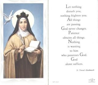 5P-312 lg St. Teresa Of Avila Holy Card